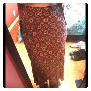 90's style floral skirt